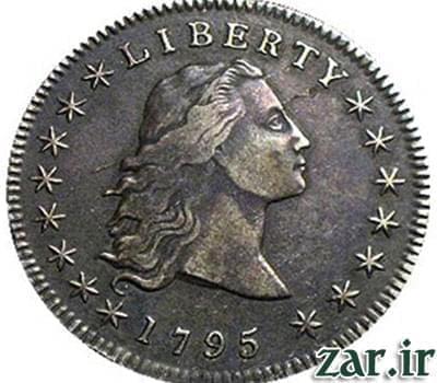 سکه,سکه دلار با موهای افشان