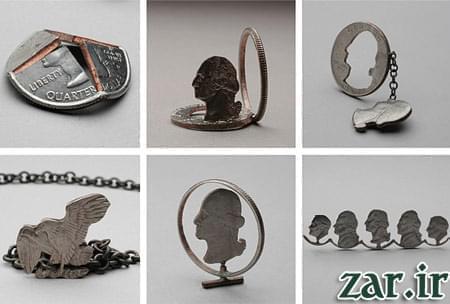 تصاویری از خلاقیت با سکه های پنی