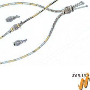 ست طلا  سفید و زرد با نگین الماس مدل: sdf1020