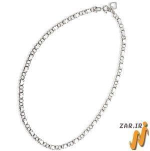 پابند طلا سفیدبانگین الماس مدل : adf1001
