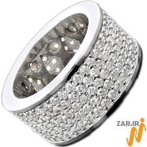 حلقه مردانه طلای سفید با نگین برلیان: مدل rdm1076