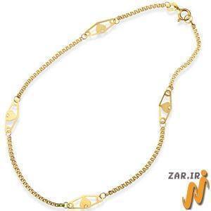 پابند طلا زرد مدل:adf1069