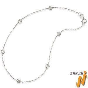 پابند طلا سفید مدل:adf1075
