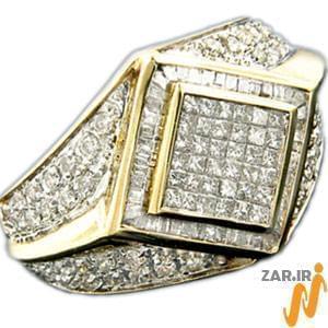 انگشتر طلای زرد مردانه با نگین الماس: مدل rgm1008