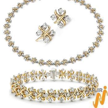 عکس مدل سرویس طلا و جواهرات عروس 2012