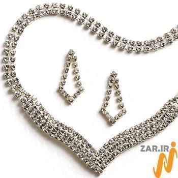 سرویس جواهر با نگین الماس تراش برلیان مدل:hsdf1126