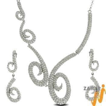 سرویس جواهر با نگین الماس تراش برلیان مدل: hsdf1129