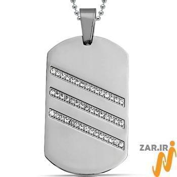 آویز مردانه جواهر با نگین الماس تراش برلیان : مدل npdm1001