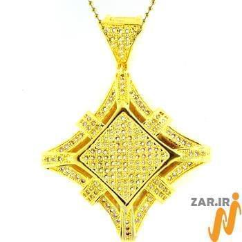 آویز مردانه جواهر با نگین الماس تراش برلیان : مدل npdm1002