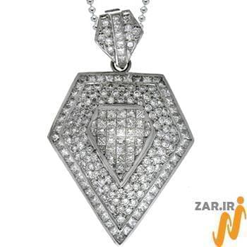 آویز مردانه جواهر با نگین الماس تراش برلیان : مدل npdm1008