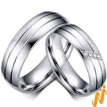 حلقه ازدواج ست طلای سفید