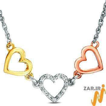 گردنبند طلا,گردنبند زنانه,گردنبند قلب