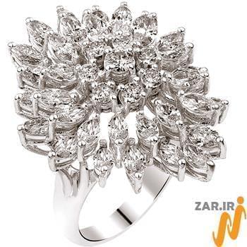 انگشتر بالرین,انگشتر طلای سفید,انگشتر زنانه,انگشتر جواهر