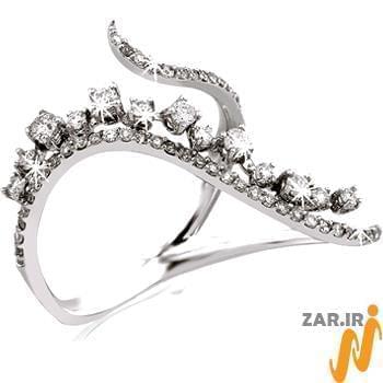 انگشتر طلای سفید,انگشتر زنانه,انگشتر جواهر