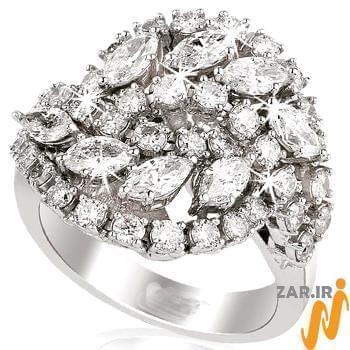 مدل انگشتر طلای سفید,انگشتر زنانه,انگشتر جواهر