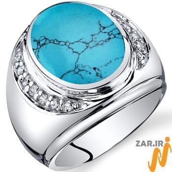 قیمت انگشتر فیروزه مردانه طلا و جواهر
