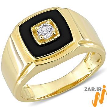 مدل انگشتر مردانه میناکاری شده طلا